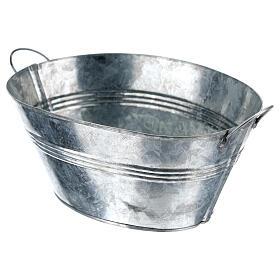 Cuve ovale en métal h 5 cm crèche 24 cm s2