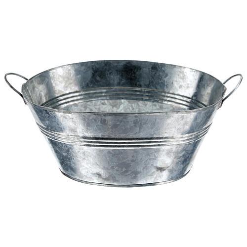 Cuve ovale en métal h 5 cm crèche 24 cm 1