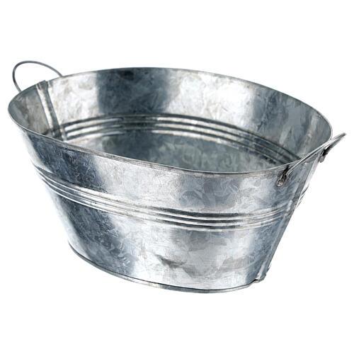 Cuve ovale en métal h 5 cm crèche 24 cm 2