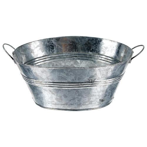 Cuve ovale en métal h 5 cm crèche 24 cm 3