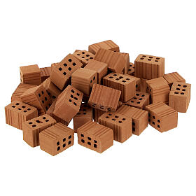 Briques terre cuite 1x1,5x1 cm 100 pcs crèche s1