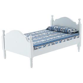 White bed with blanket Nativity scene 16 cm s2