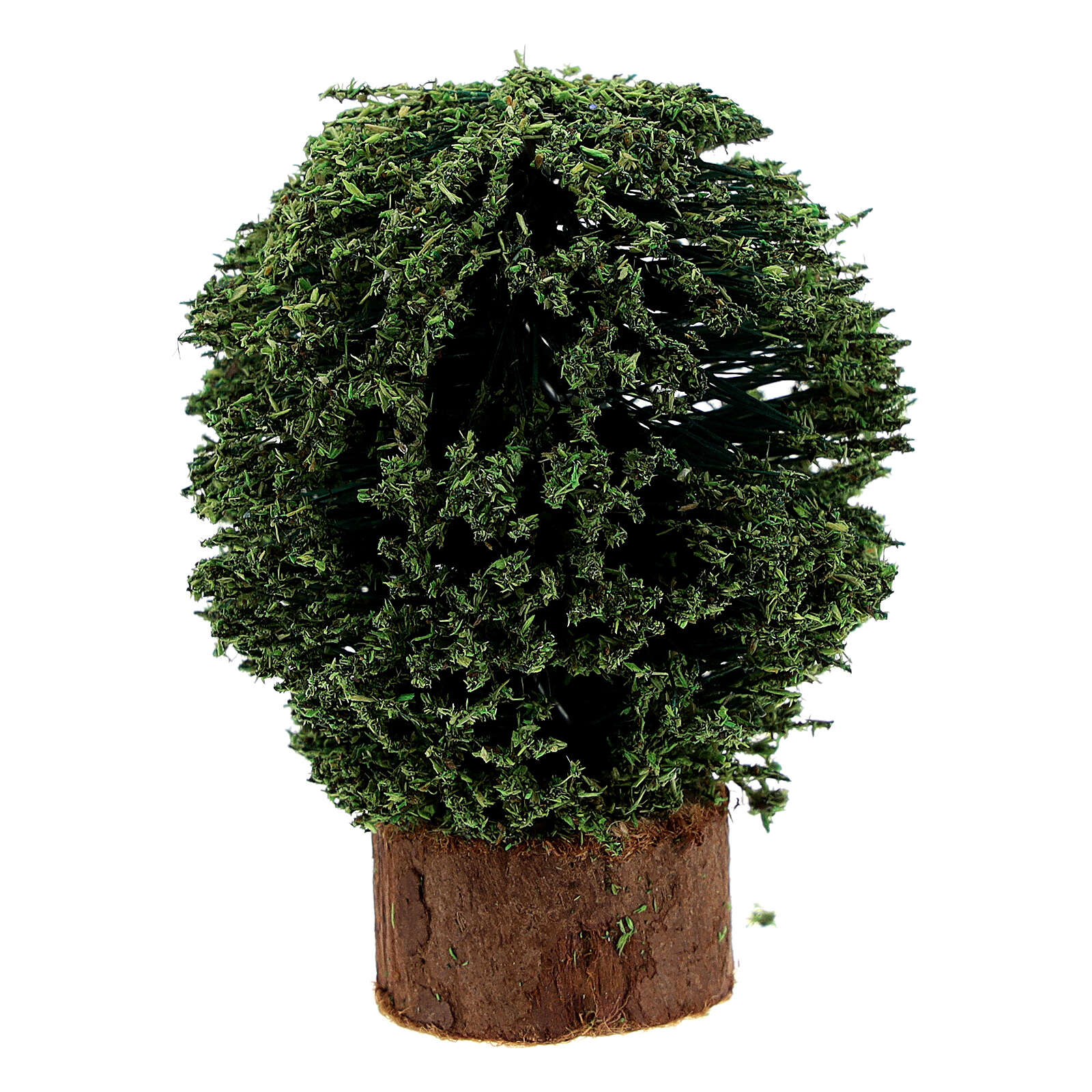 Bushes with wooden vase (pack 4 pcs) real h 5 cm for Nativity 8 cm 4