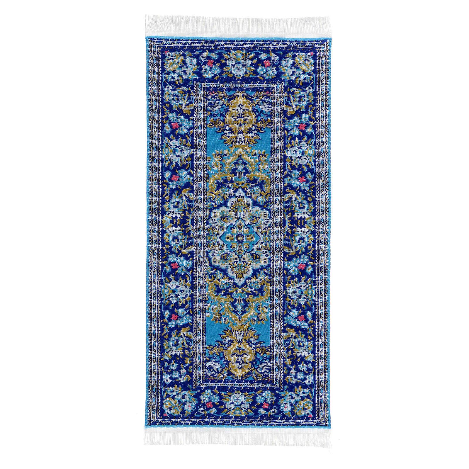 Tappeto decorato 13x6 cm presepe 14-20 cm 4