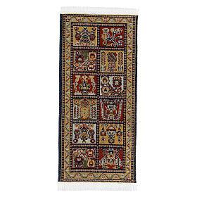 Tapete decorado 13x6 cm miniatura para presépio com figuras altura média 14-20 cm s3