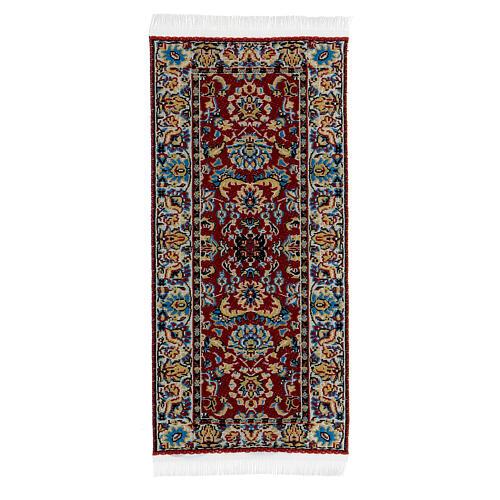 Tapete decorado 13x6 cm miniatura para presépio com figuras altura média 14-20 cm 1