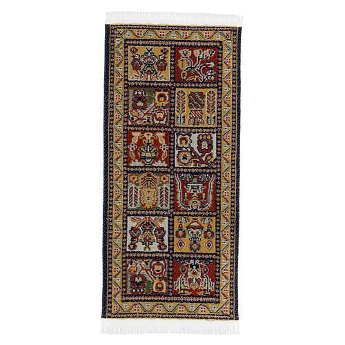 Tapete decorado 13x6 cm miniatura para presépio com figuras altura média 14-20 cm 3