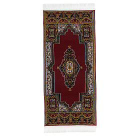 Decorated carpet 13x6 cm for Nativity Scene with 14-20 cm figurines s4