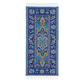 Decorated carpet 13x6 cm for Nativity Scene with 14-20 cm figurines s6
