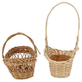 Wicker baskets 10 pieces different shapes and sizes for Nativity Scene with 20-30-40 cm figurines s5