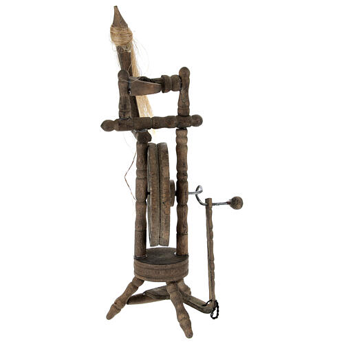 Filatoio legno per presepe 12 cm 4