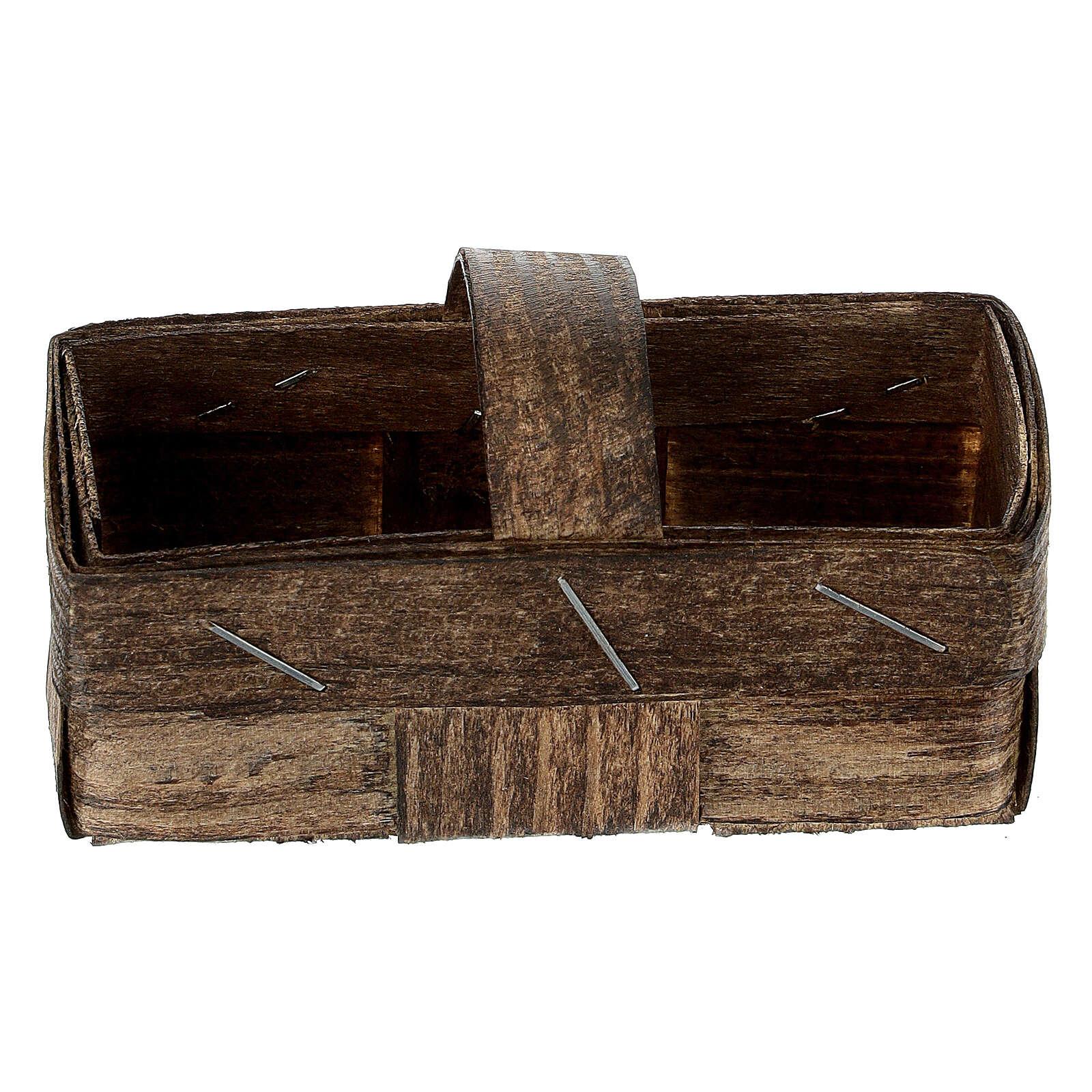 Rectangular basket 5x10x5 cm Nativity scene 4