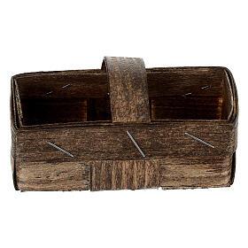 Rectangular basket 5x10x5 cm Nativity scene s1