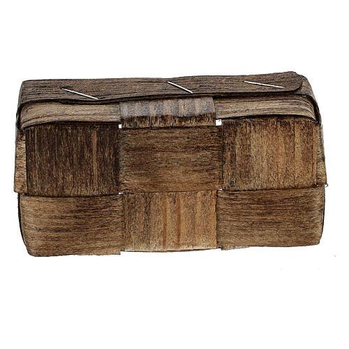 Rectangular basket 5x10x5 cm Nativity scene 3