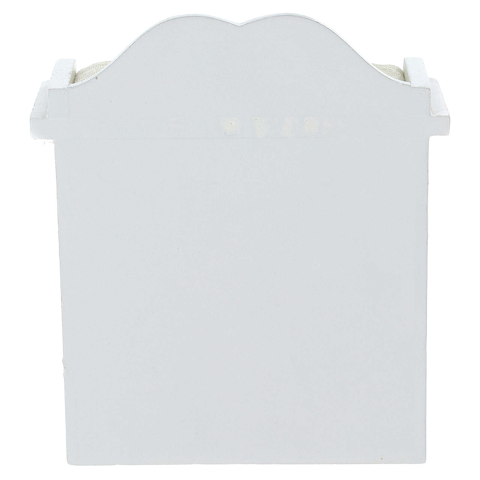 Mobiletto fasciatoio bianco presepe 12-14 cm 4