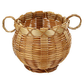 Open wicker jar for Nativity scene 14 cm s1