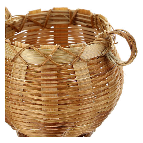 Open wicker jar for Nativity scene 14 cm 2