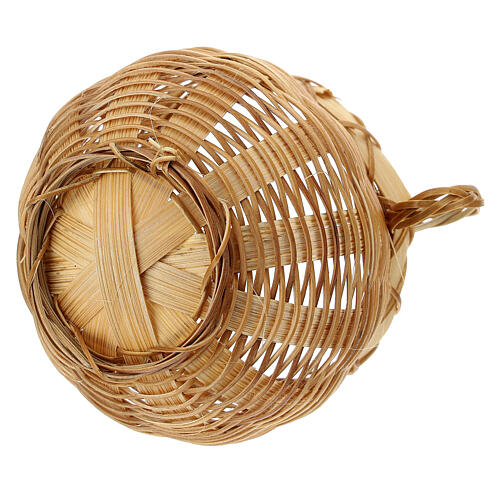 Open wicker jar for Nativity scene 14 cm 3