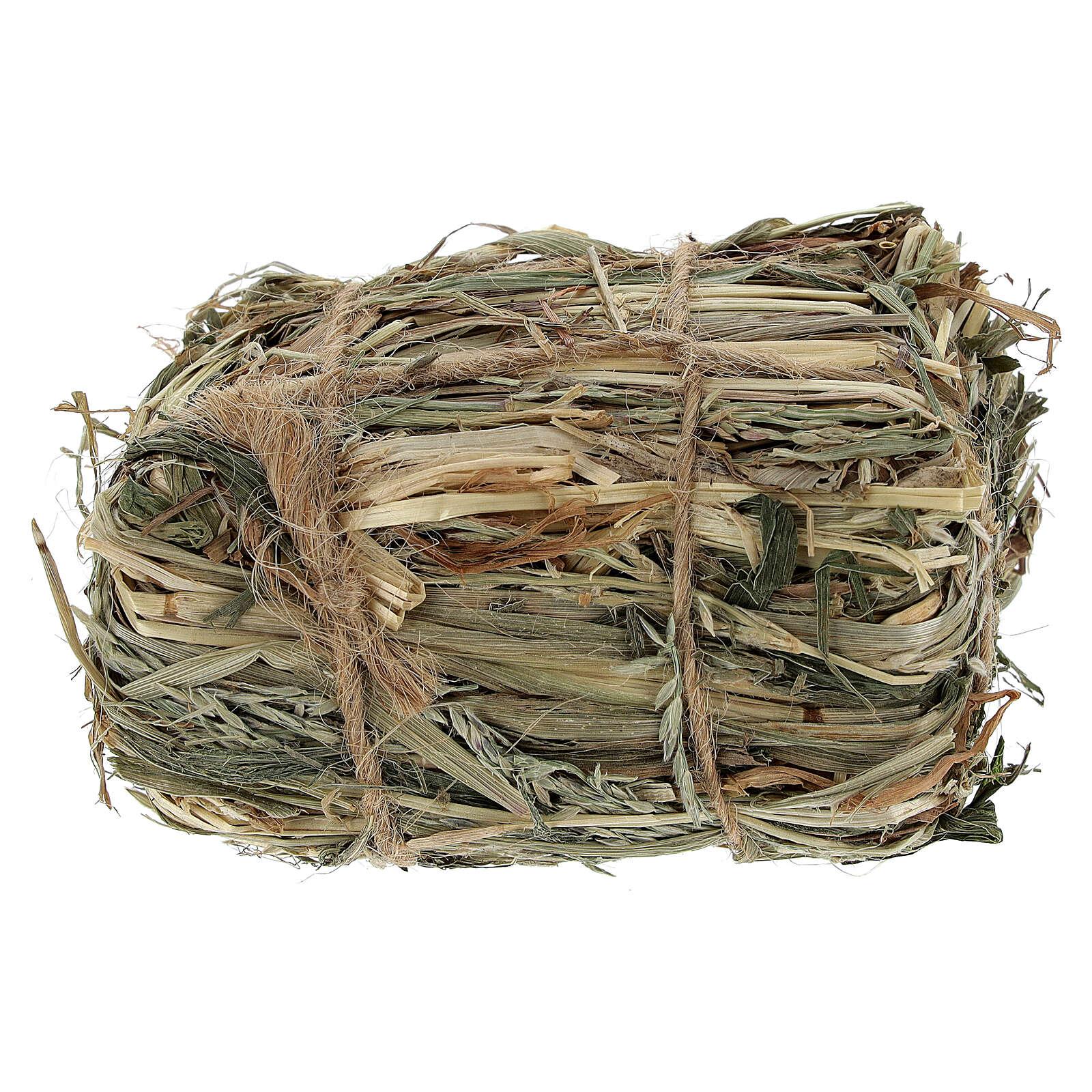 Bale of hay 4x7x5 cm Nativity scene 8-10-12 cm 4