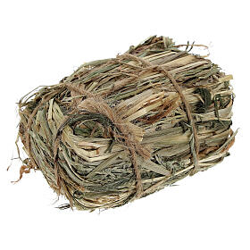 Bale of hay 4x7x5 cm Nativity scene 8-10-12 cm s2