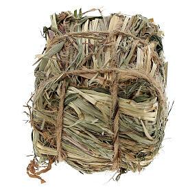 Bale of hay 4x7x5 cm Nativity scene 8-10-12 cm s3