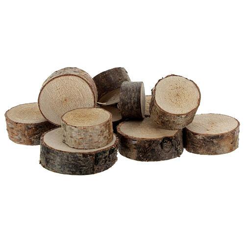 Tree trunk sections diameter 2-5 cm 100 gr 1