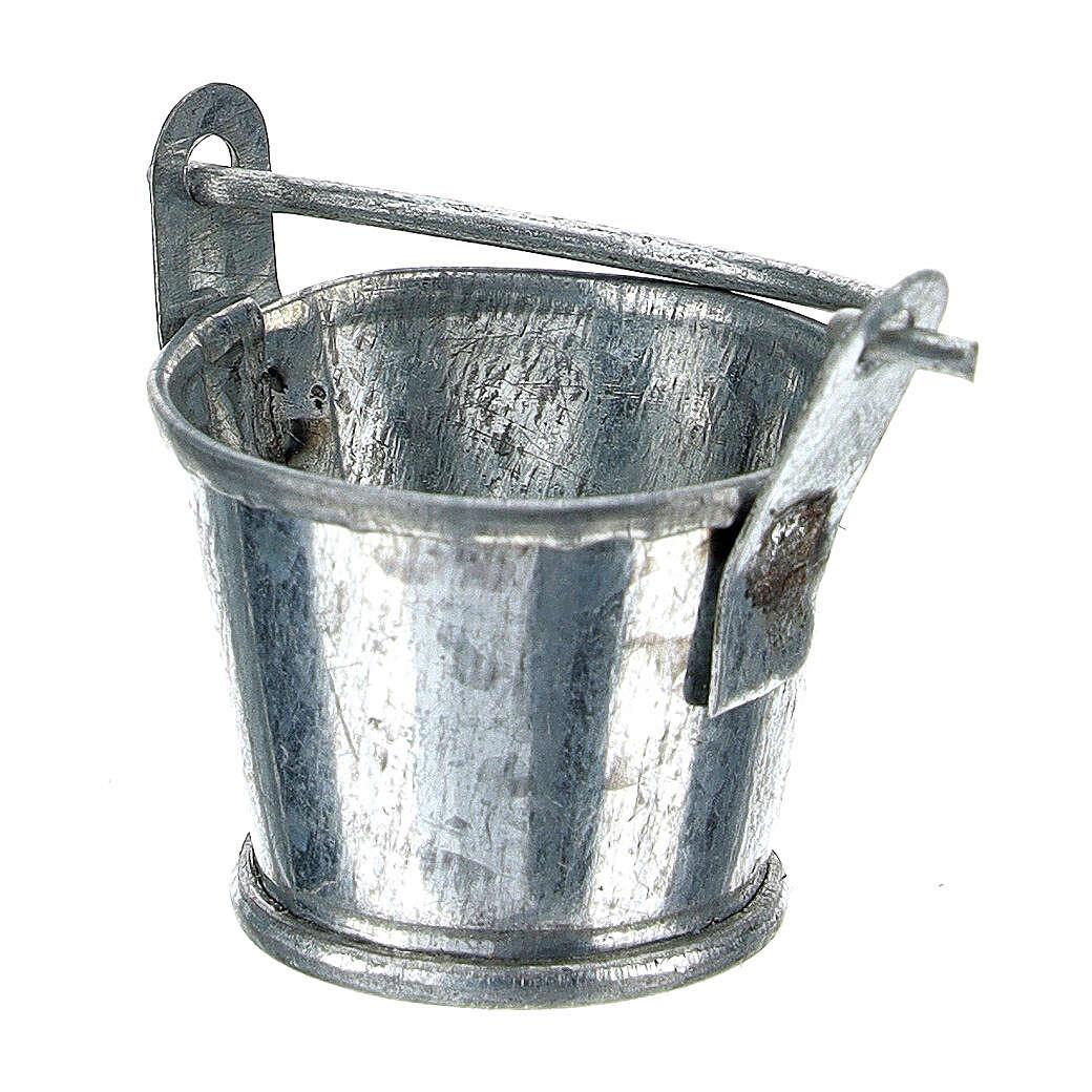 Secchiello presepe alluminio 8 cm 4