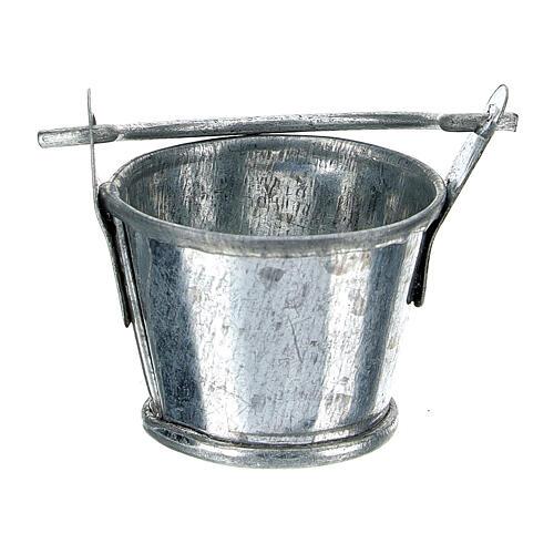 Secchiello presepe alluminio 8 cm 1