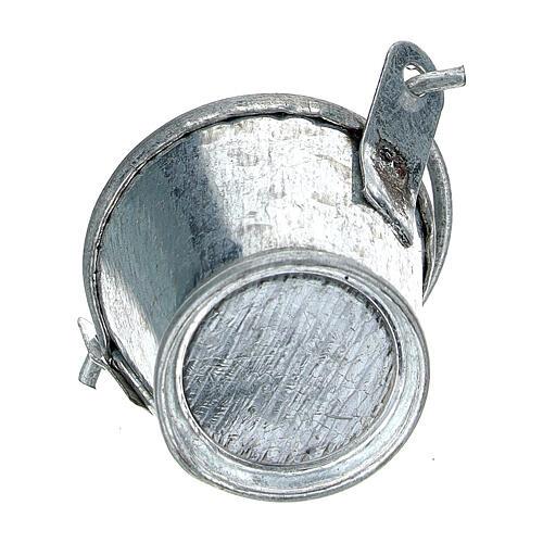 Secchiello presepe alluminio 8 cm 3