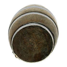 Botte 3 cm riga grigia presepe 8-10 cm s3