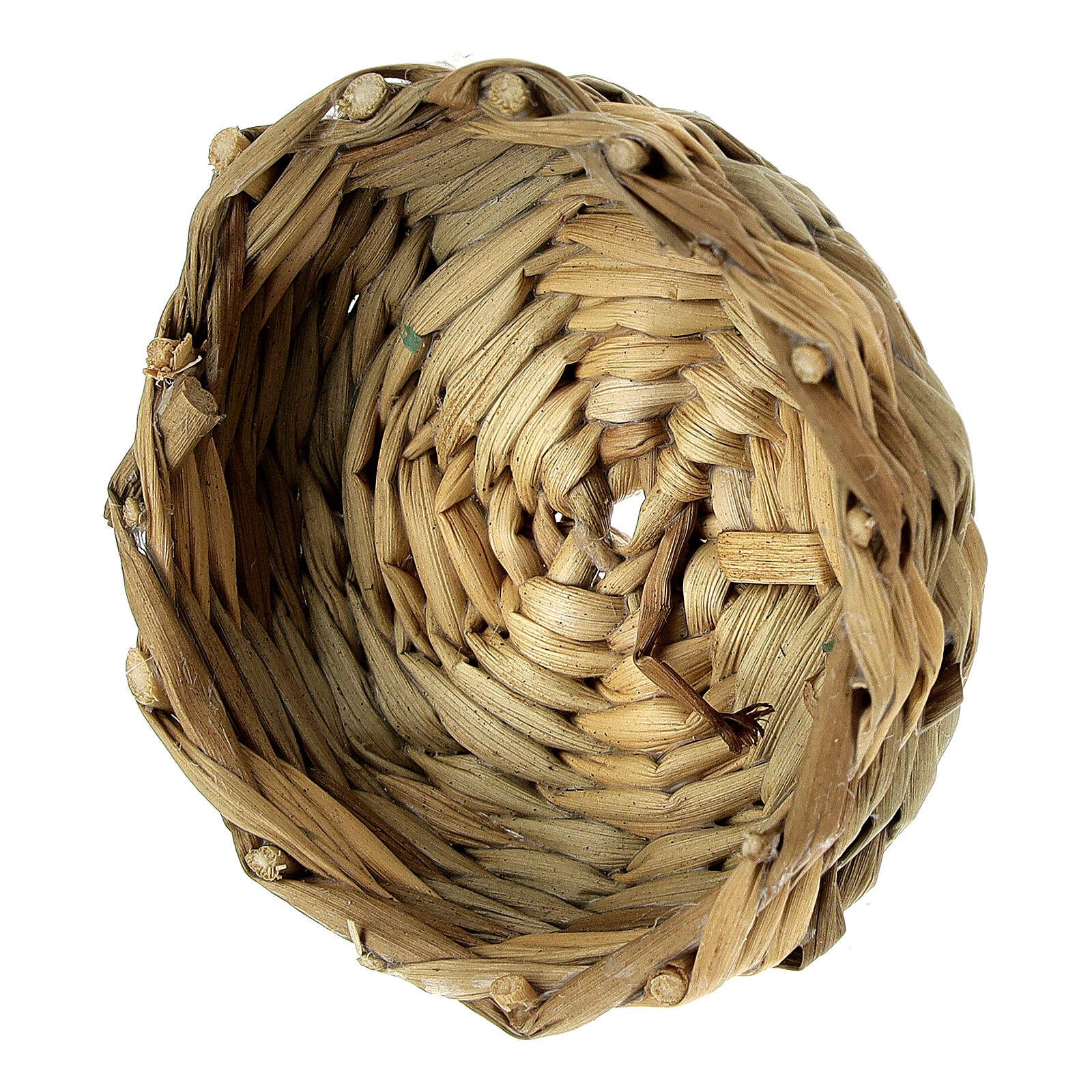 Low basket diam 4.5 cm for Nativity scenes 14-16-18 cm 4