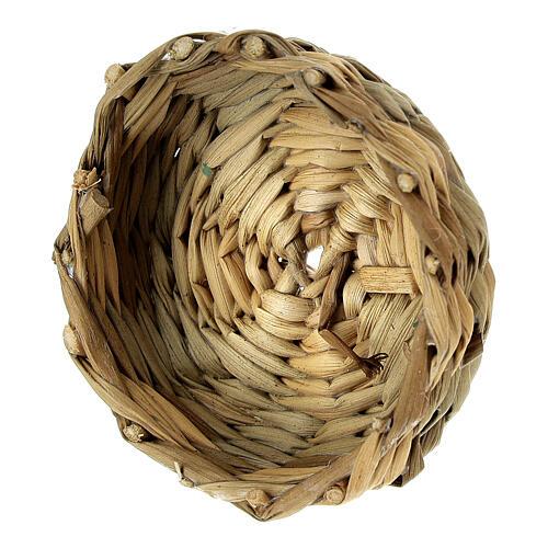 Low basket diam 4.5 cm for Nativity scenes 14-16-18 cm 2
