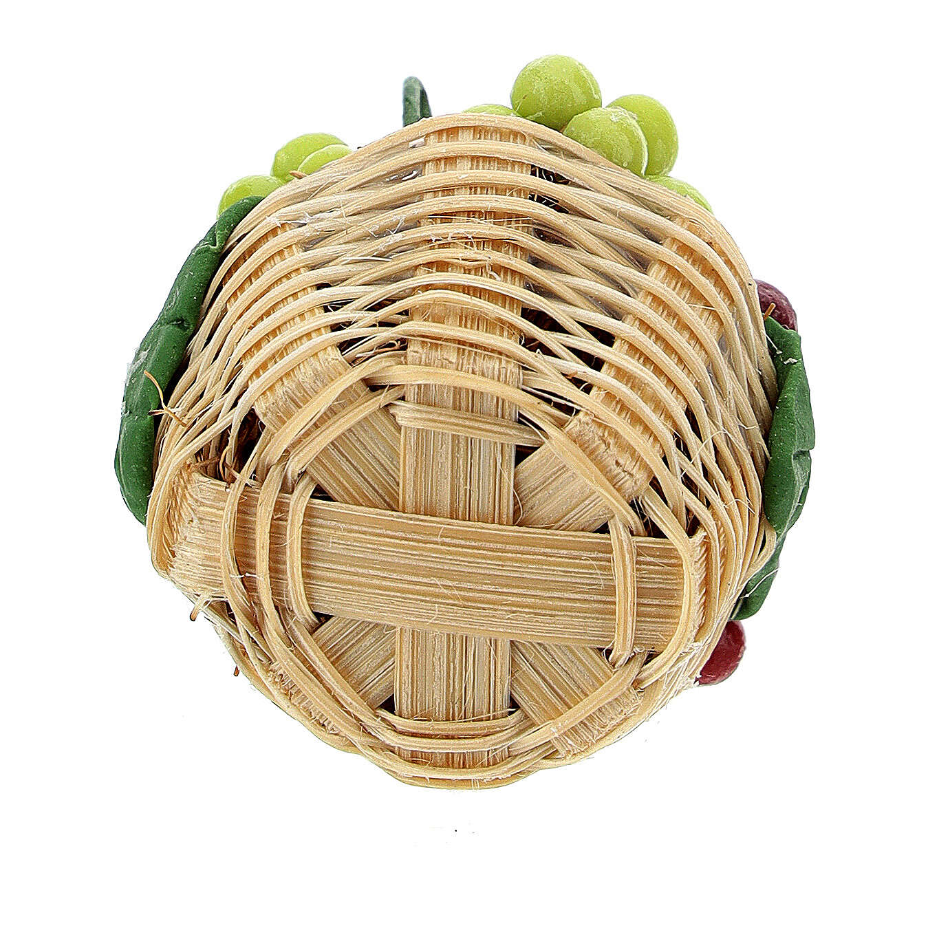 Basket of colored grapes for Nativity scene 8 cm 4