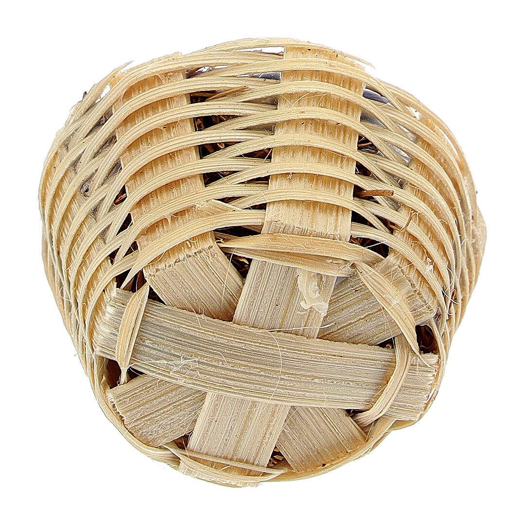 Cesto com ameixas e damascos miniatura para para presépio com figuras altura média 6-8 cm 4