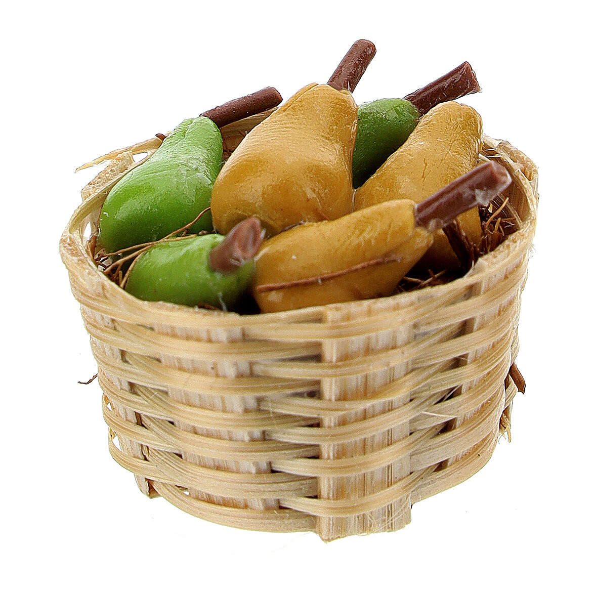 Basket of pears 3 pieces Nativity scene 6-8 cm 4