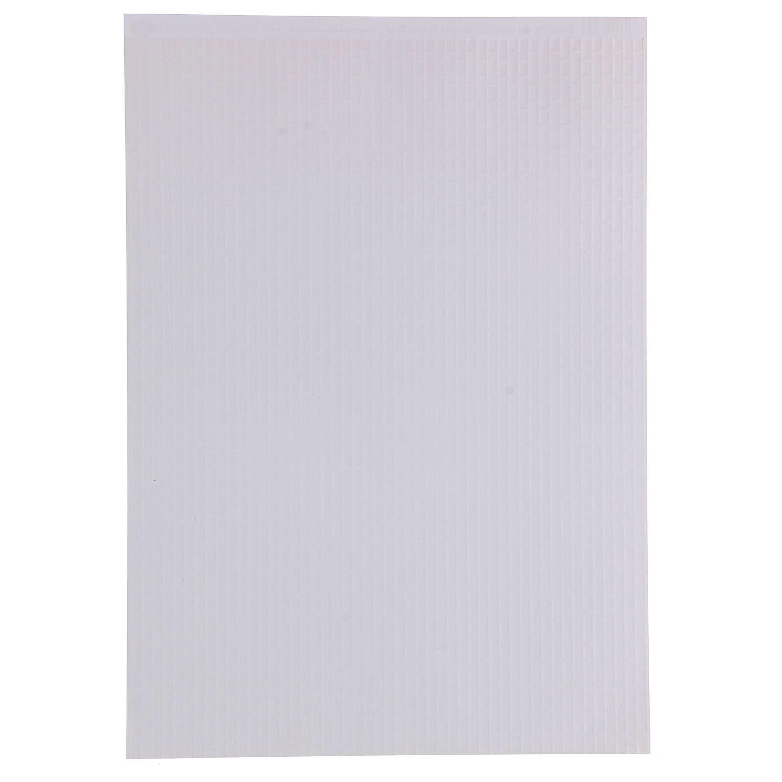 Folha tamanho A3 de papel tijolos escuros para presépio 4