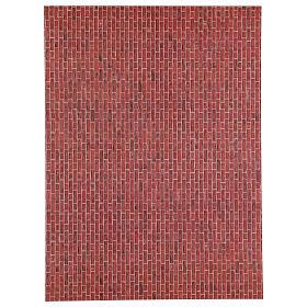 Folha tamanho A3 de papel tijolos escuros para presépio s1
