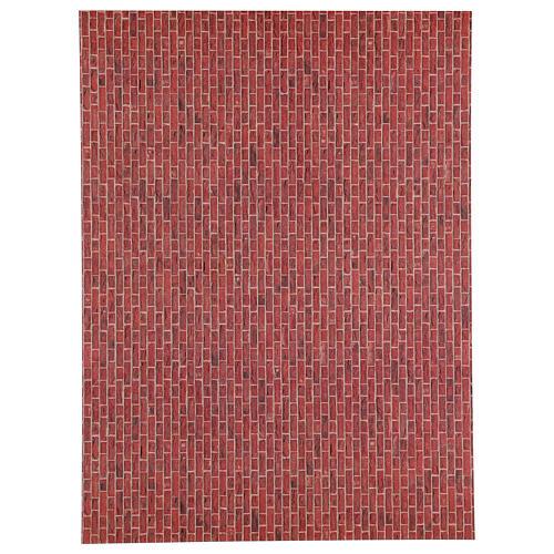Folha tamanho A3 de papel tijolos escuros para presépio 1