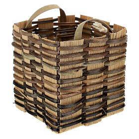 High wicker basket 5x5x5 cm for Nativity Scene with 12-14 cm figurines s2