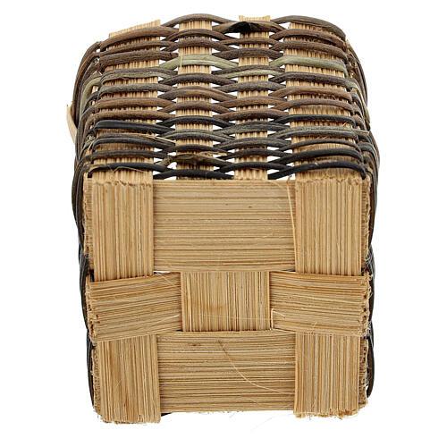 High wicker basket 5x5x5 cm for Nativity Scene with 12-14 cm figurines 3