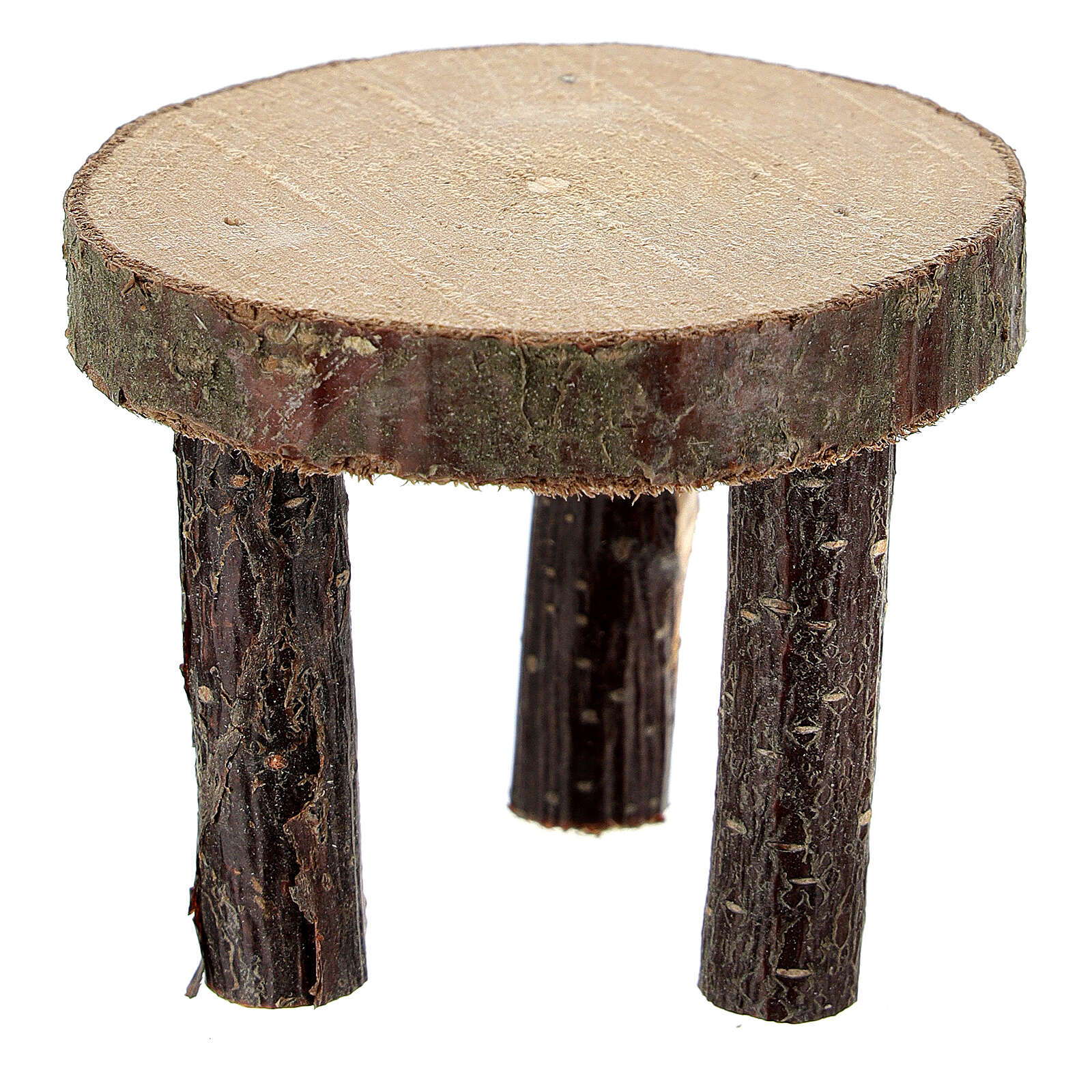 Round table tree trunk section h 4 cm for Nativity Scene with 10 cm figurines 4