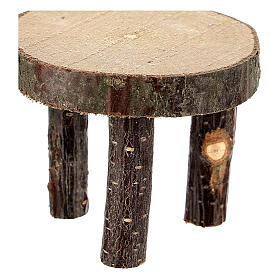 Round table tree trunk section h 4 cm for Nativity Scene with 10 cm figurines s2