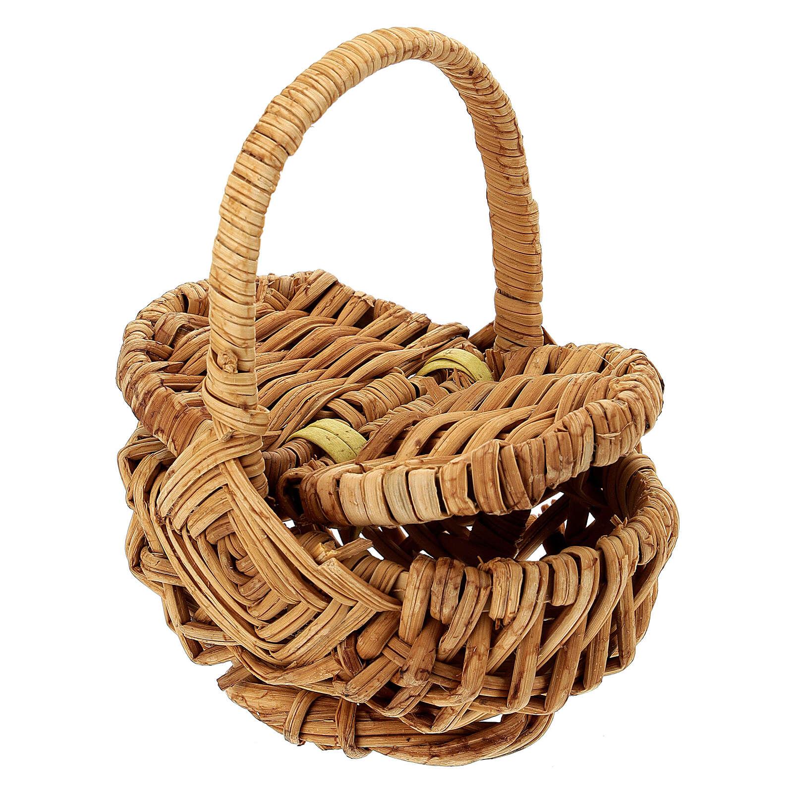 Openable picnic basket Nativity scene 18 cm 4