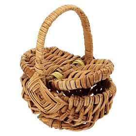 Openable picnic basket Nativity scene 18 cm s2