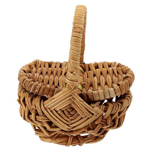 Openable picnic basket Nativity scene 18 cm 1