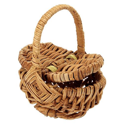 Openable picnic basket Nativity scene 18 cm 2