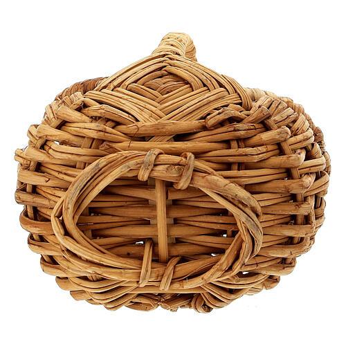 Openable picnic basket Nativity scene 18 cm 3