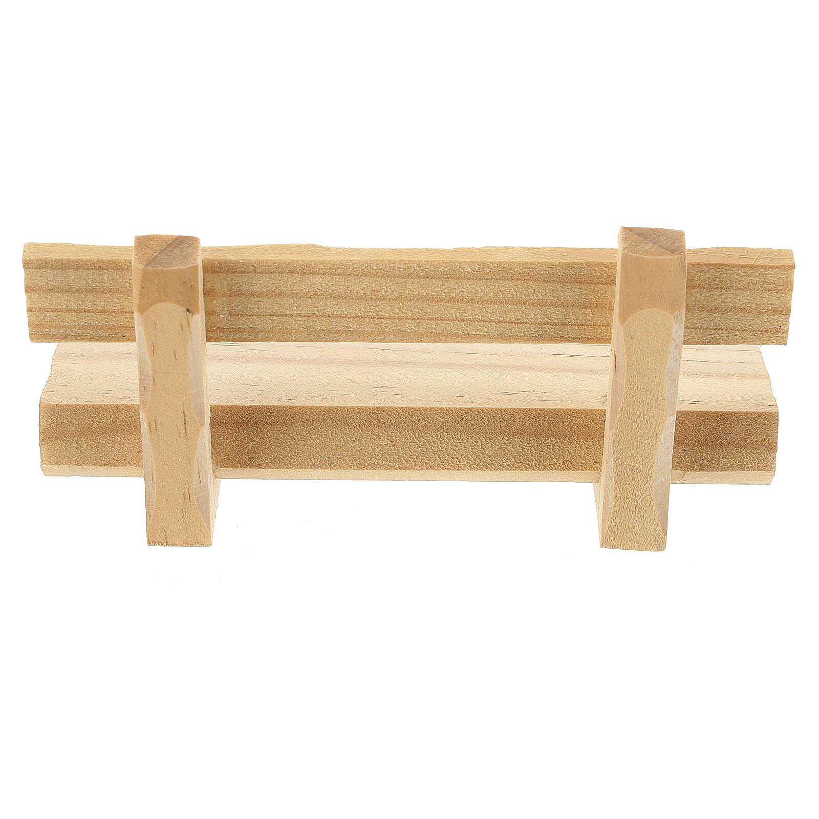 Panchina legno 5x10x5 cm presepe 10-12 cm 4
