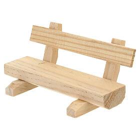 Panchina legno 5x10x5 cm presepe 10-12 cm s3