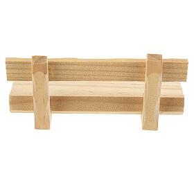 Panchina legno 5x10x5 cm presepe 10-12 cm s4